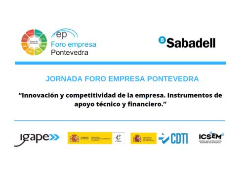 Nos vemos en la Jornada Foro Empresa Pontevedra