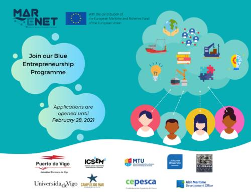 Proyecto MarENet: Abierta la convocatoria para el Blue Entrepreneurship Programme